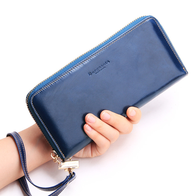 a88f9779b1a0 Borgasets women's leather wallet genuine leather purse couples zipper  bag-in Wallets from Luggage & Bags on Aliexpress.com | Alibaba Group
