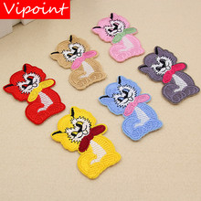 VIPOINT embroidery buttlefly patches animal badges applique for clothing XW-103