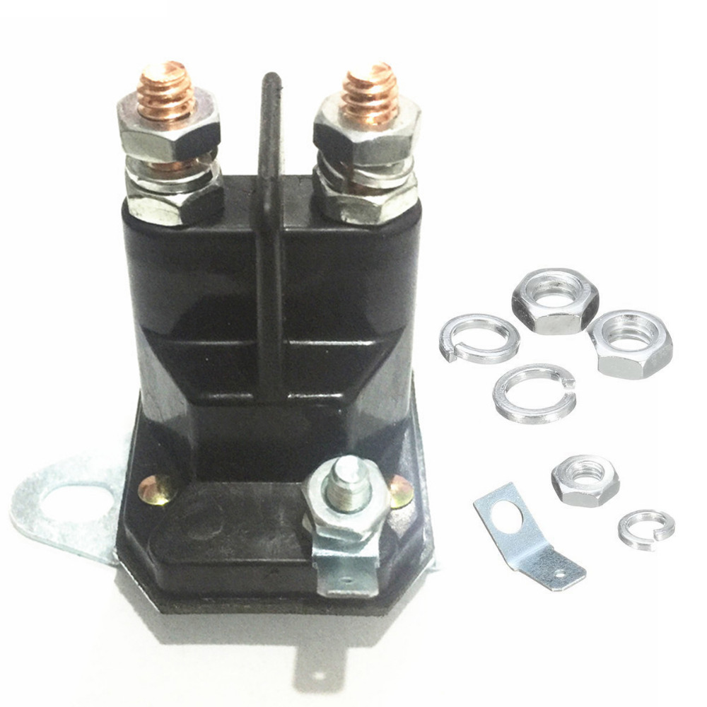 1pc 3 Terminals Starter Solenoid Relay 12V Contactor Switch Replace For MTD Lawnmower