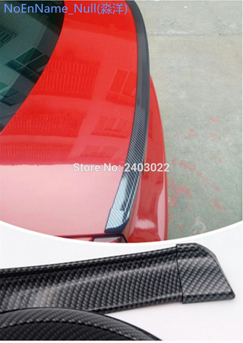 Universal PU Carbon Fiber Rear Trunk Spoiler or Roof Wing Trim 1.5 Meters for BMW F30 F10 F16 E90 E92 M3 M4 Z4 E46 image