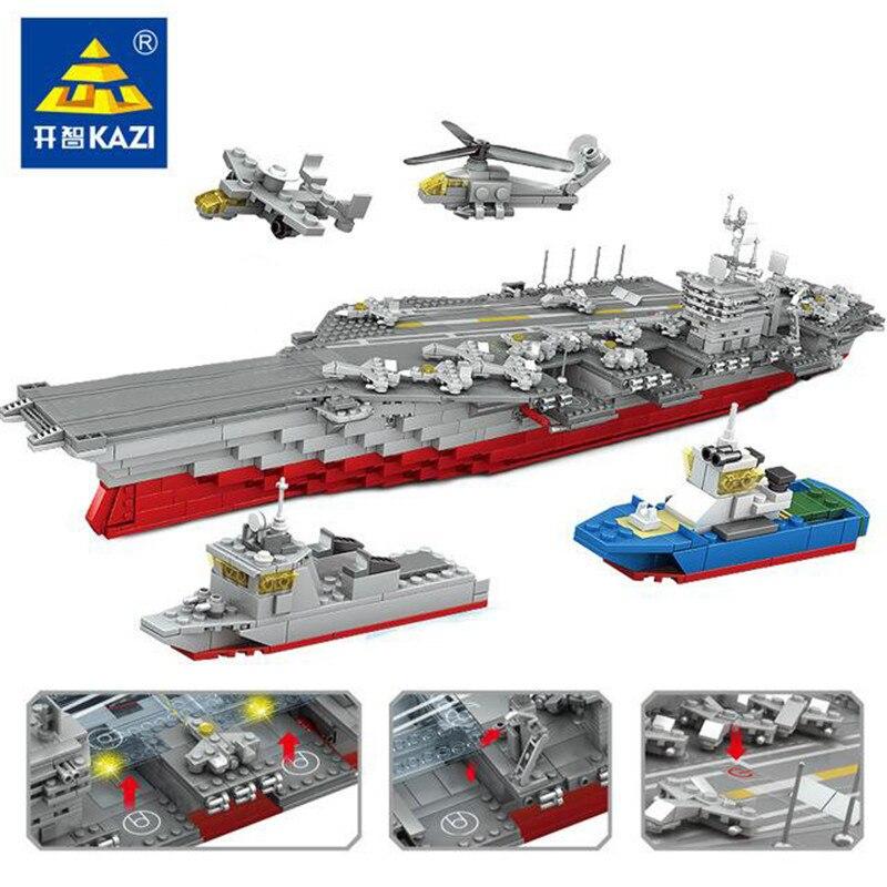 KAZI 10002 военный линкор строительные блоки подарочные наборы 3D Строительство 1868 + кирпич Развивающие игрушки для детей