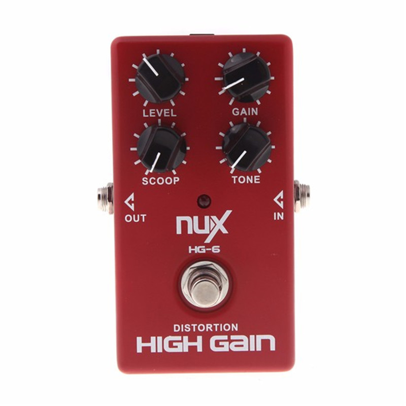 New HG-6 Guitar Distortion High Gain Electric Effect Pedal True Bypass for Heavy Metal Rock Solo Durable Guitar Parts Accessory aroma ac stage acoustic guitar simulator effect pedal aas 3 high sensitive durable top knob volume knob true bypass metal shell