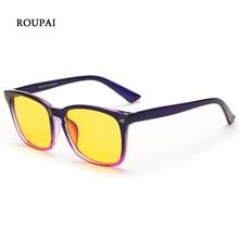 ROUPAI 2018 Fashion Eyeglasses Frame Women Man Optical Eyeglass Eyewear Notebook Computer Goggle Anti Blue Light Glasses Lunette