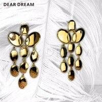 Fashion Luxury Light Flour Gradient Metal Tassel Earrings Jewelry & Accessories For Women Party Wedding Gift