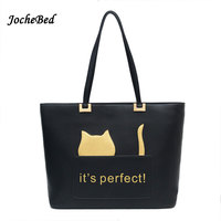 Cute Cartoon Bag Cat 4 Colors Large Capacity Women Shopping Bag Imitation Designer Bags Sac A
