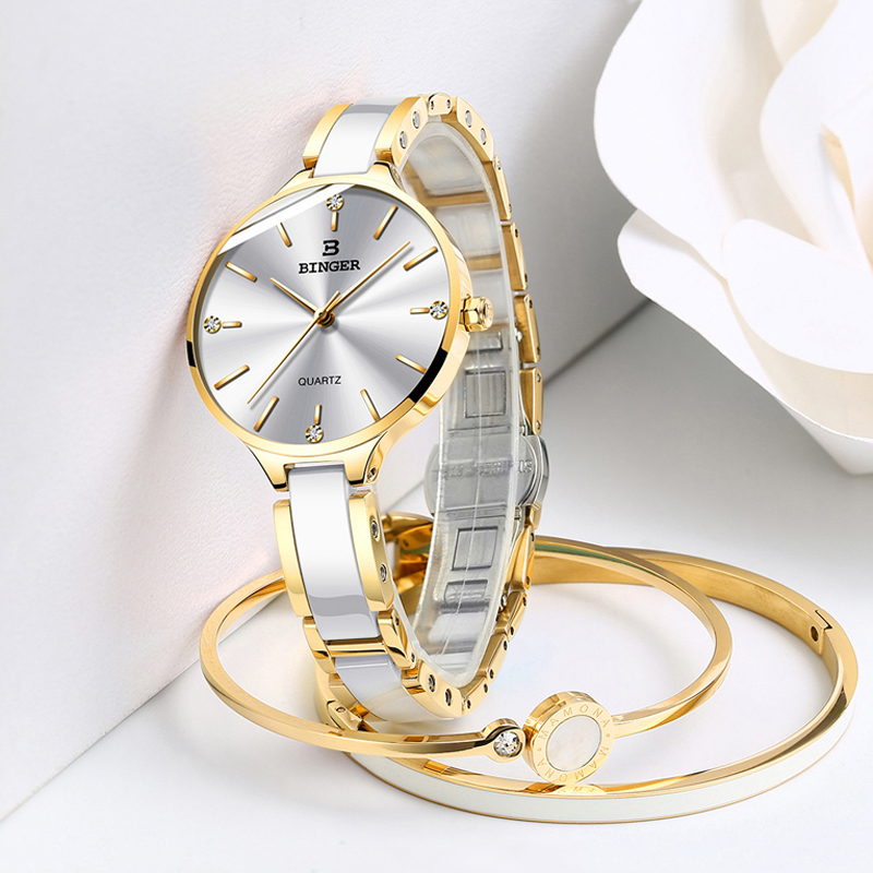 BINGER Women Luxury Rhinestone Ceramic and steel Quartz Watches Ladies Fashiond Watch Japanese Quartz Movement Relogio 2019 NEWBINGER Women Luxury Rhinestone Ceramic and steel Quartz Watches Ladies Fashiond Watch Japanese Quartz Movement Relogio 2019 NEW