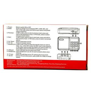 Image 5 - Mini Cầm tay Cầm Tay Kỹ Thuật Số FM USB TF MP3 Người Chơi Loa Sạc Điện