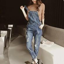 4ad2a42f421e Fashion Denim Overalls Women Jeans Jumpsuit Rompers Ladies Vintage Denim  Jean Overalls Pant(China)