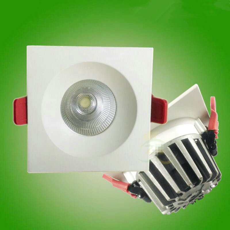 2015 Новые 10 Вт COB светодиодные светильники встраиваемые потолочный светильник Теплый/Холодный белый + Питание лампы ce rohs