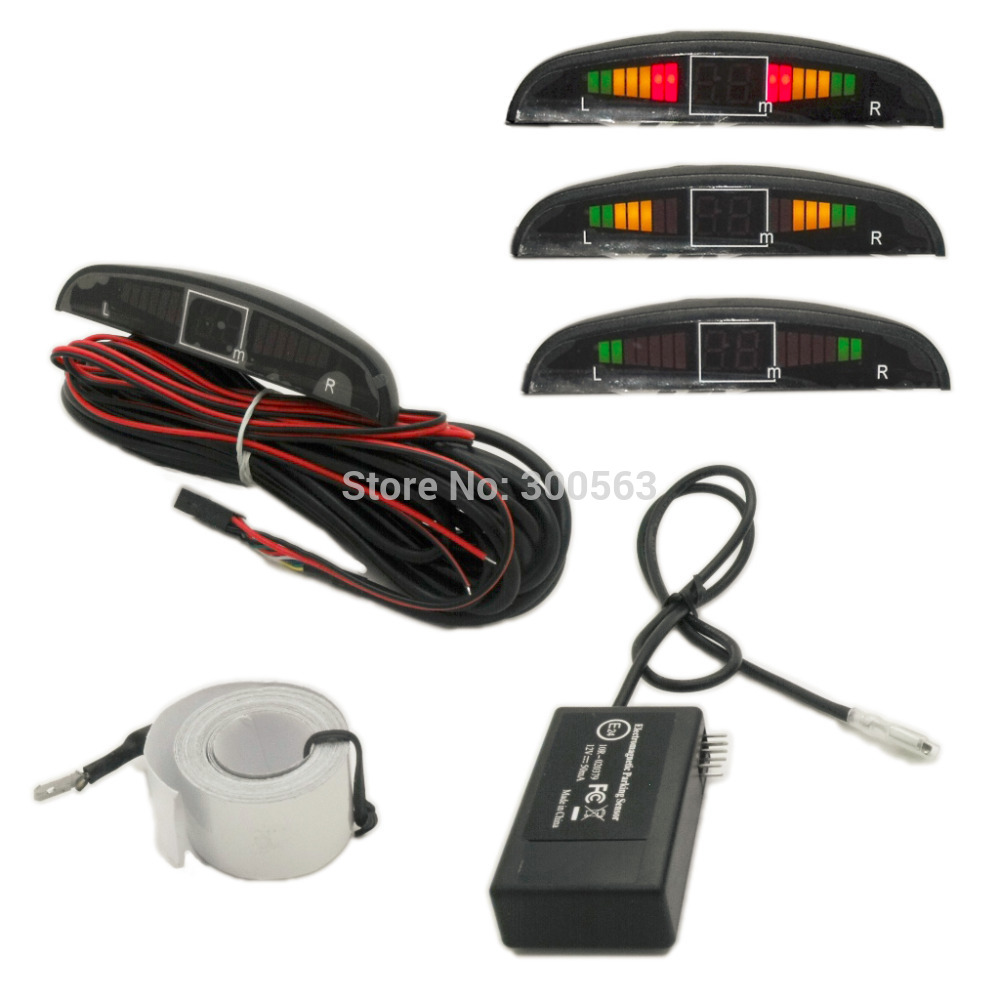 Arrival LED Electromagnetic Parking Sensor,with 3 Colors LED Screen,built In Buzzer Alarm,no Holed No Drilled