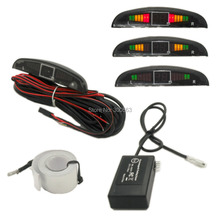 Llegada LLEVADO sensor de aparcamiento Electromagnético, con pantalla de 3 colores LED, construido en zumbador de alarma, no embocó no perforado