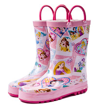 2019 Sale Tenis Led New Pick-up Girl Princess In The Tube Rain Boots Water Shoes Overshoes Parent-child Children's Wholesale