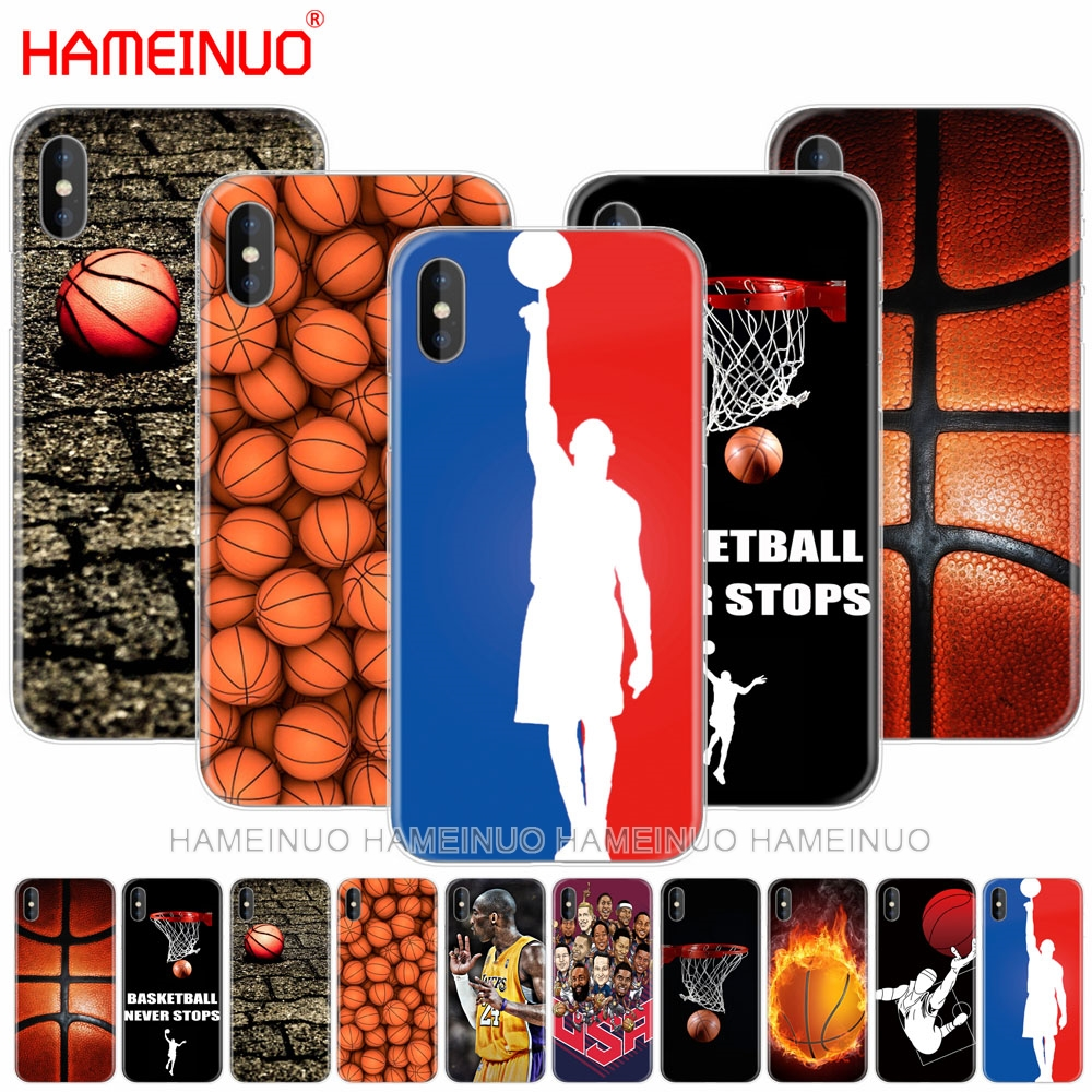 HAMEINUO basketball sport cell phone Cover case for iphone 6 4 4s 5 5s SE 5c 6 6s 7 8 plus case for iphone 7 X 10