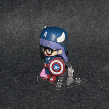 Nendoroid 10cm Japanese anime figure Q version Doctor Slump Arale cosplay Captain American Nendoroid action figure collectible model toys 2
