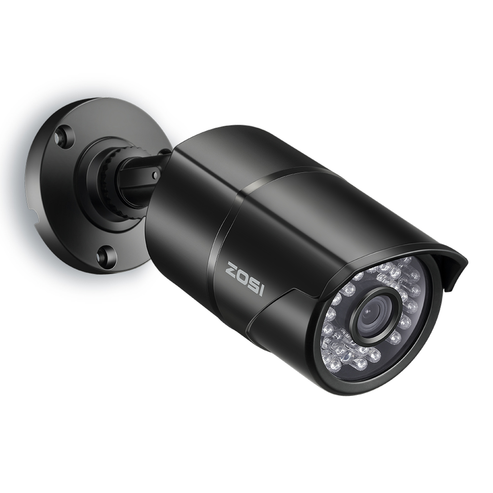 ZOSI 1/3 Color CMOS 1000TVL bala CCTV cámara HD interior/al aire libre 36 Leds IR día/noche de seguridad cámara de vigilancia de vídeo