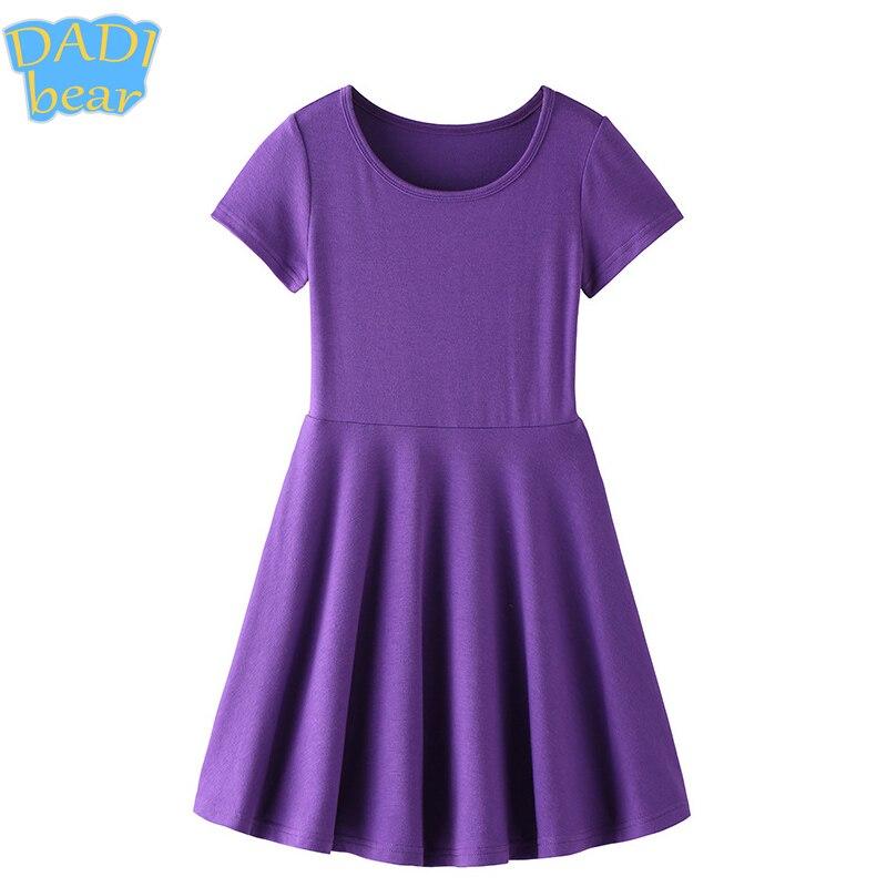 Algodón Elegante Púrpura Lavanda Twirly Skater Partido Muchachas Del ...
