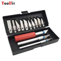 13pcs Precision Wax Caving Knife Set With 3pcs DIY Handles Handle Craft Cutter Engarving Tools