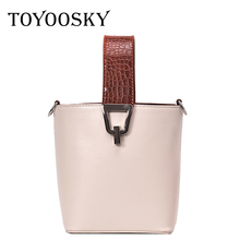 TOYOOSKY Women Leather Designer Handbags High Quality Crossbody Shoulder Bags Ladies Fashion Brand Portable Wristlets Clutches fashion two way designer genuine alligator skin ladies women pink day clutches exotic crocodile leather wristlets card case bag