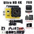 Câmera de vídeo de ação F60 Ultra 4 K Wifi Ir pro câmera de 2.0 LEVOU 170 Graus gravador de marinha mergulho 1080 P HD DV impermeável Sport cam