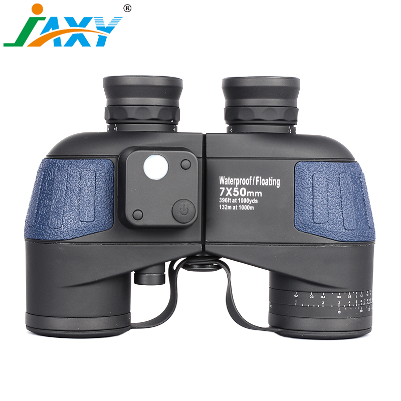 JAXY 7X50 Military Binoculars 100% Waterproof&Floating Zoom Telescope Long Range HD Telescopio Monocular BAK4 Prism with Campass