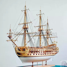 Scale 1/50 Luxury classic sail boat Wooden model kits San Felipe warship model English instructions