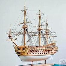 Skala 1/50 luksusowy klasyczny żaglówka drewniany model zestawy San Felipe okręt wojenny model angielski instrukcje