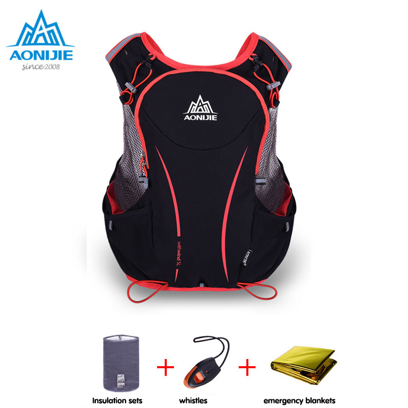 AONIJIE 5L Outdoor Sports Backpack Women / Men Marathon Hydration Vest Pack for Exchange Cycling Hiking Water Bag aonijie men women outdoor sports lightweight running 8l backpack marathon cycling hiking bag with 1 5l hydration water bag