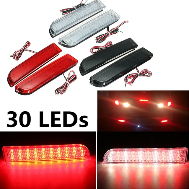 30 LED Красный Задний Бампер Отражатель Тормоза кабеля Стоп Запуск Указатель Поворота Лампы Для Mitsubishi Lancer 2008-2014