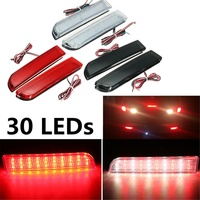 30 LED Red Rear Bumper Reflector Tail Brake Stop Running Turning Light Lamp For Mitsubishi Lancer