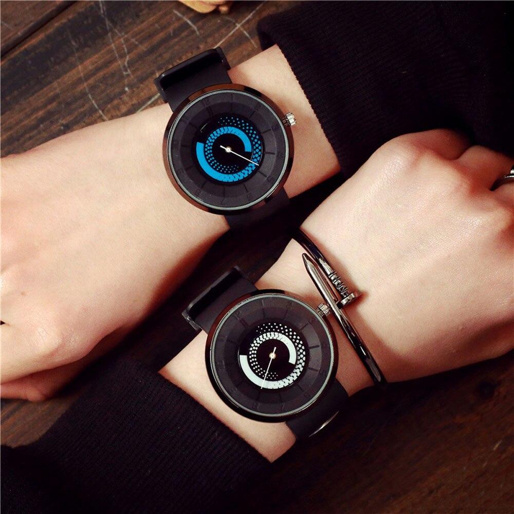 2020 New Watch Unisex Quartz Watch Fashion Lovers Men Women Silicone  Band Quartz Analog Wrist Watch Watches Relogio Feminino