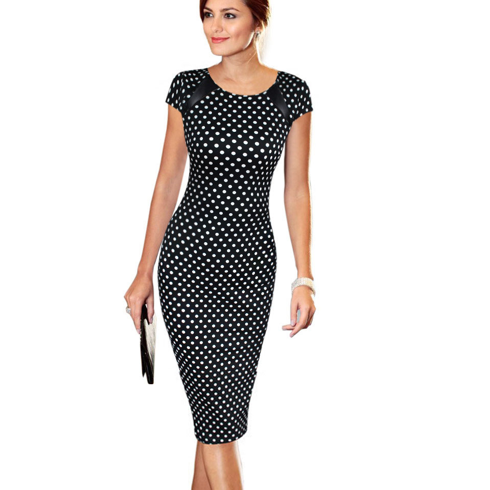 US $5.99 40% OFF|Dress Vestidos Summer Women Plus Size Elegant Floral Print  Check Cap Sleeve Tunic Work Business Casual Party Pencil Sheath 004-in ...