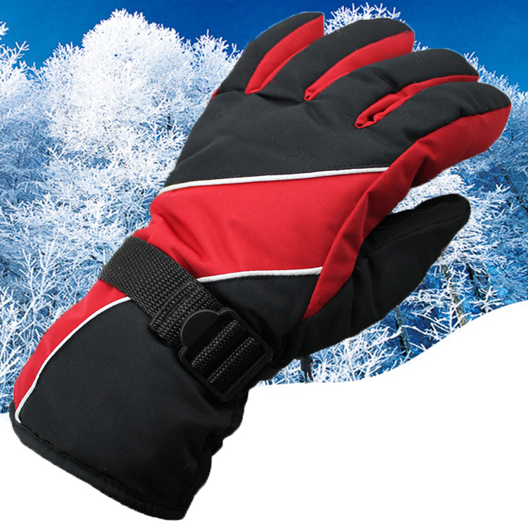 Kezrea Skiing Gloves Windproof Waterproof Warm Cycling Ski Snow Snowmobile Motorcycle Snowboard Skiing Gloves Winter Outdoor Men
