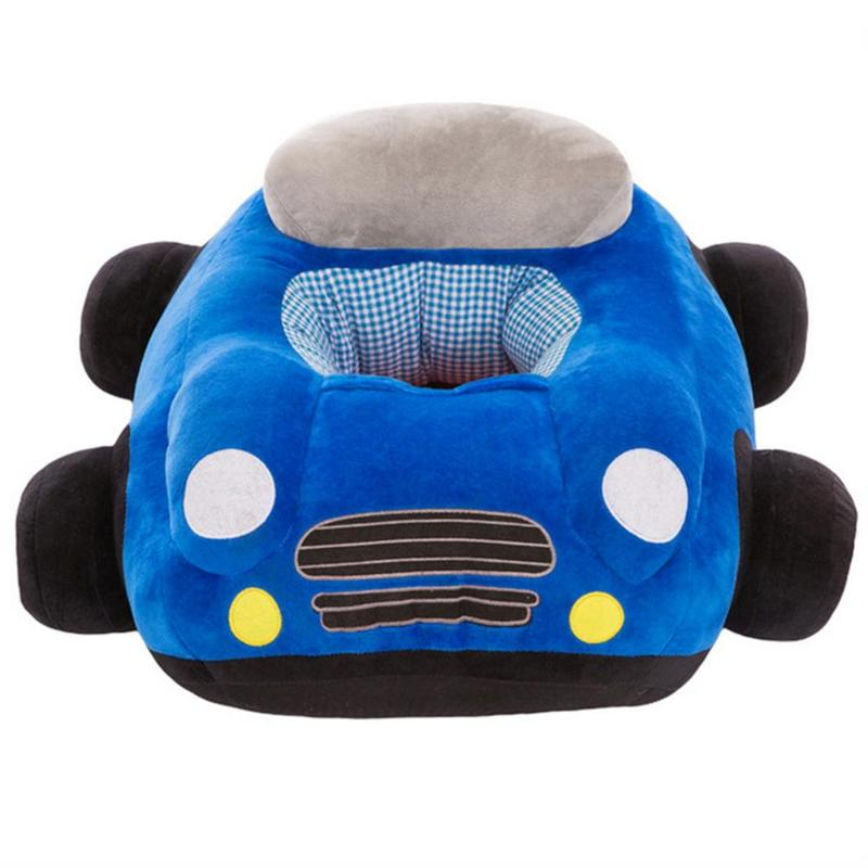 Baby Seats Sofa Toys Car Seat Support Seat Baby Plush Without Filler Car Sofa Plush Toy Blue Pink Red Green(China)