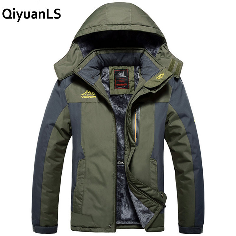QiyuanLS Male Jacket Autumn Winter Quality Brand Waterproof Windbreak Fleece Jacket Coat Tourism Mountain Military Jacket Men mcintosh tourism – principles practices philosophies 5ed