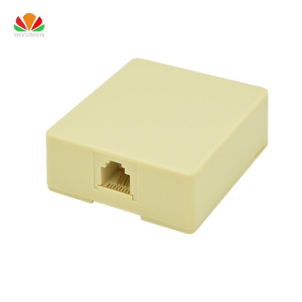 Online Shop Network Telephone Rj45 Rj11 Connection Box Aliexpress Wiring Junction Block 1 Port Desktop Terminal Cat3 Extension Cable Adapter 6p4c Connector