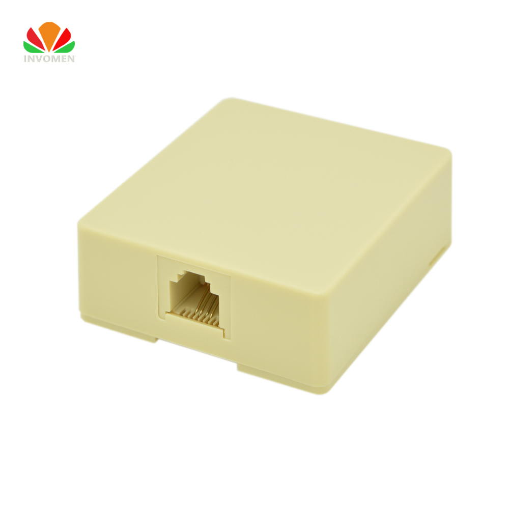 hight resolution of 1 port desktop telephone junction box terminal wiring cat3 extension cable adapter 6p4c rj11 connector for analog digital phone