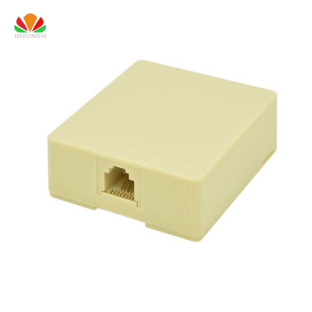 Dễ dàng port telephone box nối Máy Tính Để Bàn hộp Single port mở rộng đường dây điện thoại 6P4C RJ11 nối Bình Thường & điện thoại kỹ thuật số