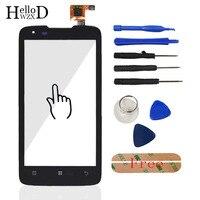 HelloWZXD Mobile Touchscreen Front For Lenovo S750 S 750 Touch Screen Glass Digitizer Panel Sensor Flex