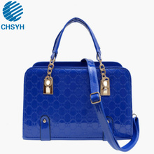 Womens Fashion Panelled Bags High Quality Patent Leather Bag Single Shoulder Classic Pressed Handbag