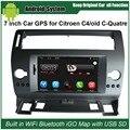 7 pulgadas de Navegación GPS Del Coche para Citroen C4 C-quatre C-triomphe Coche de Radio Reproductor de Vídeo Bluetooth WiFi y teléfono móvil Espejo-link