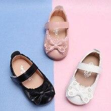 Обувь принцессы для девочек; нескользящая обувь для малышей; сандалии с бантом для детей; детская Праздничная обувь; детская Свадебная обувь; 1-8 MCH093