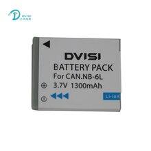 DVISI 3.7V 1.3Ah NB 6L NB6LH แบตเตอรี่ Li Ion สำหรับ Canon Power shot SX520 HS SX530 SX600 SX610 SX700 SX710 IXUS 85 95 200 210 105