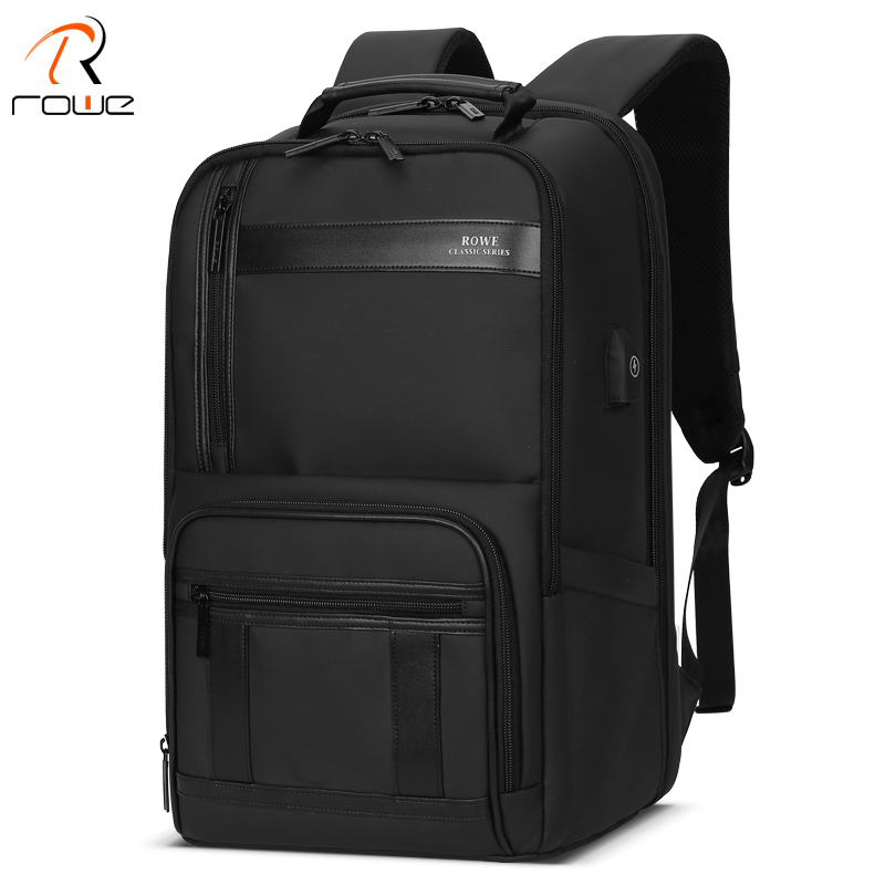 ROWE 2019 New Anti-thief Fashion Men Backpack Multifunctional Waterproof 15.6 inch Laptop Bag Man USB Charging Travel