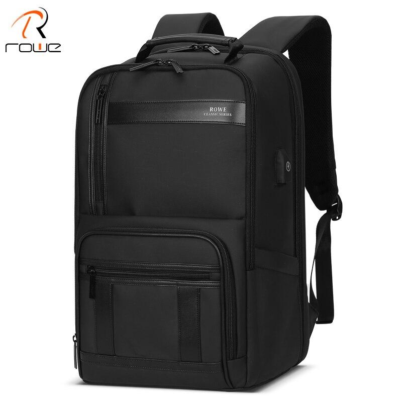 ROWE 2019 nouveau Anti-voleur mode hommes sac à dos multifonctionnel étanche 15.6 pouces pochette d'ordinateur homme USB charge sac de voyage