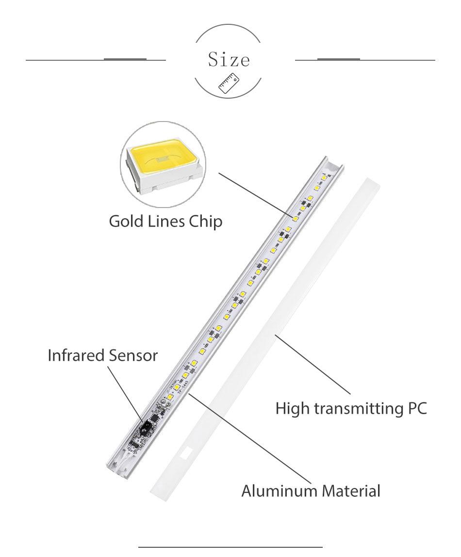 GO OCEAN Under Cabinet Lights Counter Lamp 12V 30CM 50CM Closet Lamps Lighting For Kitchen Bookcase LED Cupboard Light (9)