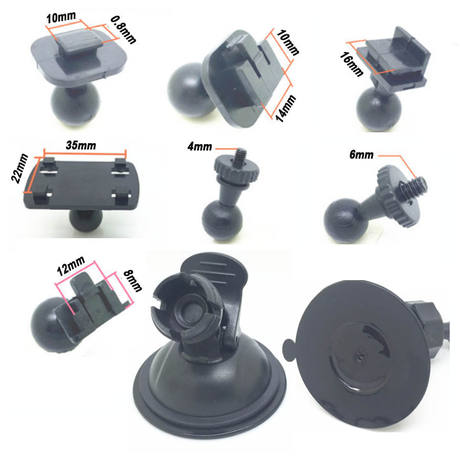 7 Types Ball Head Option DVR Holder for Car Dvr Mounts GPS DV Dash Camera Suction Cup Bracket Universal Driving Recorder Base car suction cup for dash cam holder with 6 types adapter 360 degree angle car mount for driving dvr camera camcorder gps acti
