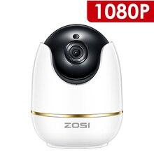 ZOSI 1080 P HD Wifi беспроводная домашняя охранная ip-камера 2.0MP IR Сеть CCTV камера видеонаблюдения с двухсторонним аудио детский монитор