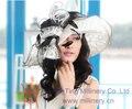 Бесплатная Доставка Новое Прибытие Женщин Hat Органзы Hat Свадьба Hat С 2 Tone Цветок Широкими Полями Floppy Рябь Большой Брим Цветок Hat