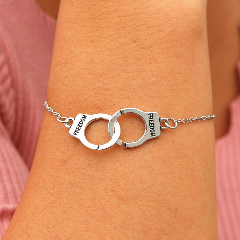 Handcuff Charm Bracelets Bangles Men