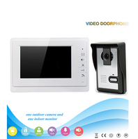 V70F L 7 Screen Intercome System 4 Line Video Door Phone For Villa Video Doorbell Wireless